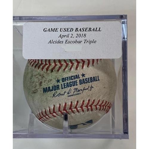 Photo of Game-Used Baseball: Alcides Escobar Triple