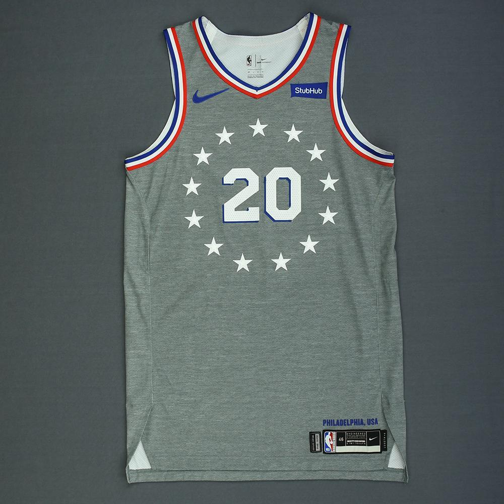 Markelle Fultz - Philadelphia 76ers - Game-Worn City Edition Jersey - 2018-19 Season