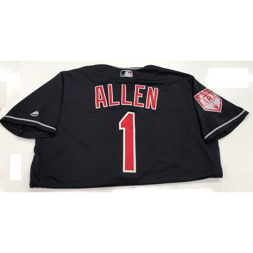 Photo of Greg Allen 2019 Game-Used Spring Training Jersey