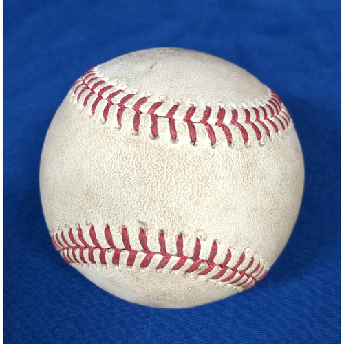 Photo of Game-Used Ball: Mike Trout Single June 25th 2019