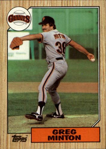 Photo of 1987 Topps #724 Greg Minton