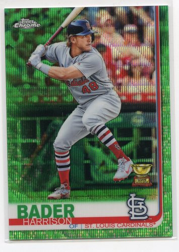 Photo of 2019 Topps Chrome Green Wave Refractors #13 Harrison Bader 69/99