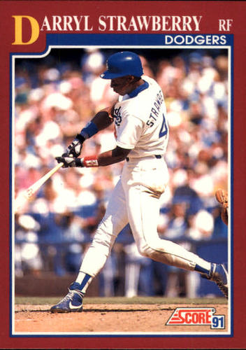 Photo of 1991 Score Rookie/Traded #16T Darryl Strawberry