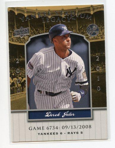 Photo of 2008 Upper Deck Yankee Stadium Legacy Collection #6734 Derek Jeter
