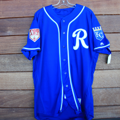 Photo of Game-Used Jersey: Frank Schwindel (Size 48 - KC vs COL - 2/25/19)