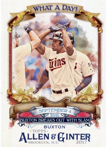 Photo of 2017 Topps Allen and Ginter What a Day #WAD95 Byron Buxton
