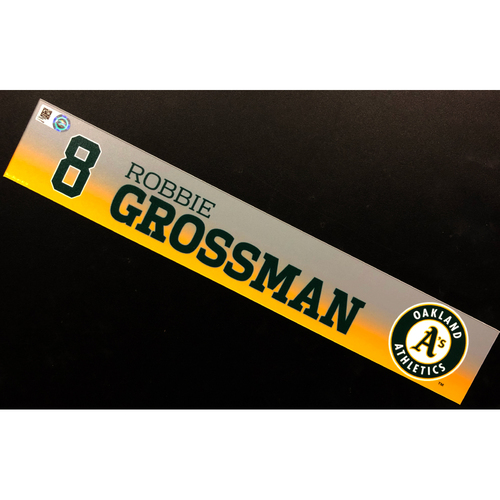 Photo of Game-Used 2020 Spring Training Locker Nameplate - Robbie Grossman