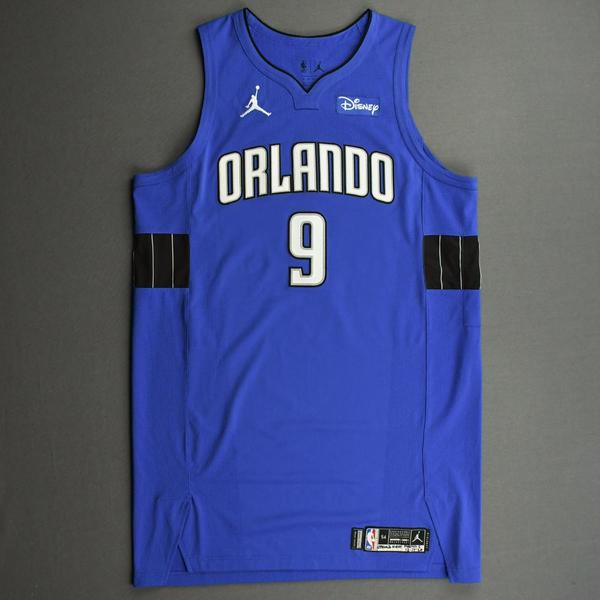 Image of Nikola Vucevic - Orlando Magic - Kia NBA Tip-Off 2020 - Game-Worn Statement Jersey - Recorded a Double-Double
