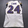 London Games - Ravens Brandon Carr Game Used Jersey (9/24/17) Size 38