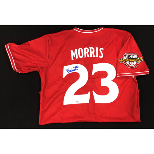 Photo of Hal Morris - AUTOGRAPHED Game Used Jersey: Reds Hall of Fame Legends Game