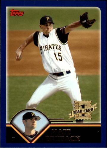 Photo of 2003 Topps Traded #T211 Matt Bruback FY RC