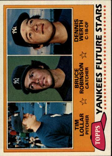 Photo of 1981 Topps #424 Tim Lollar RC/Bruce Robinson/Dennis Werth RC