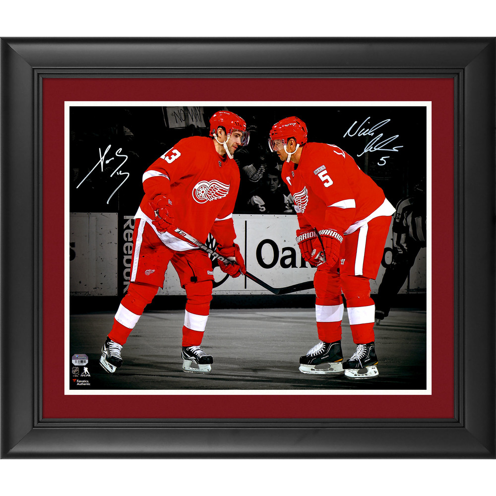 Pavel Datsyuk and Nicklas Lidstrom Detroit Red Wings Framed Autographed 16