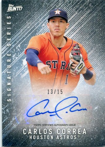 Photo of 2017 Topps Bunt Autographs Carlos Correa 13/15