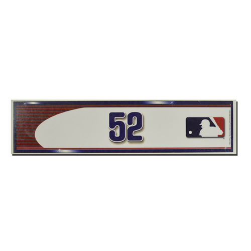 Photo of Yoenis Cespedes #52 - Game Used Locker Nameplate - Mets Clinch Wildcard Berth - Mets vs. Phillies - 10/1/16