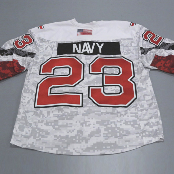 "Photo of Ohio State Ice Hockey Military Appreciation Jersey #23 ""Navy"" / Size 56"