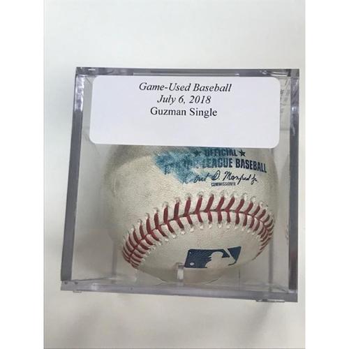 Photo of Game-Used Baseball: Ronald Guzman Single