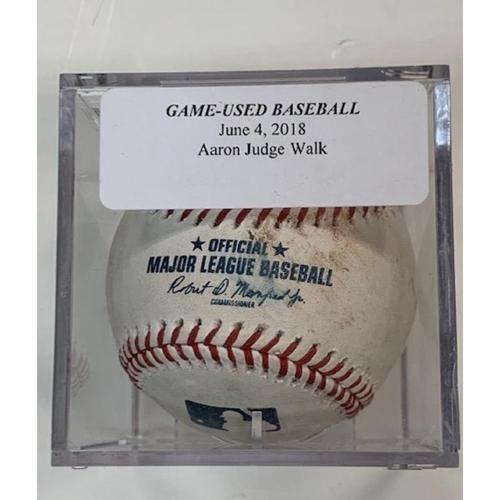 Photo of Game-Used Baseball: Aaron Judge Walk