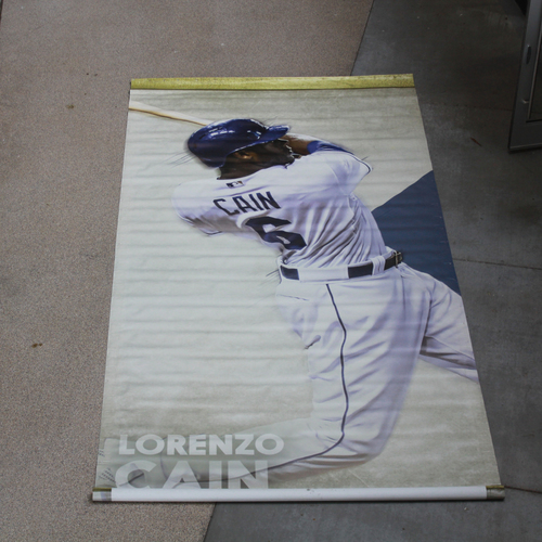 Photo of Extra Large Team-Issued Banner: Lorenzo Cain