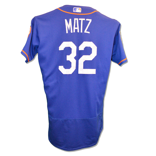 Photo of Steven Matz #32 - Game Used 2018 Spring Training Jersey - 4 IP, 0 ER, 4 K's - Mets vs. Marlins - 3/25/18