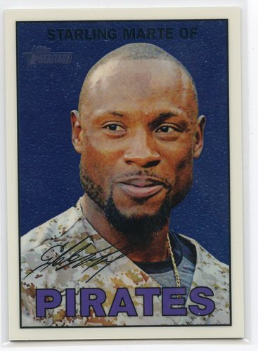 Photo of 2016 Topps Heritage Chrome #THC140 Starling Marte