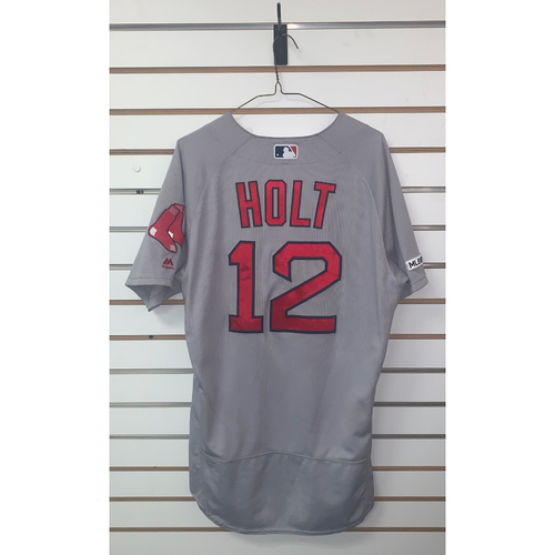 Photo of Brock Holt Game Used July 20, 2019 Road Jersey