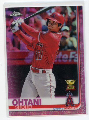 Photo of 2019 Topps Chrome Pink Refractors #1 Shohei Ohtani