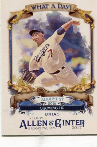Photo of 2017 Topps Allen and Ginter What a Day #WAD96 Julio Urias