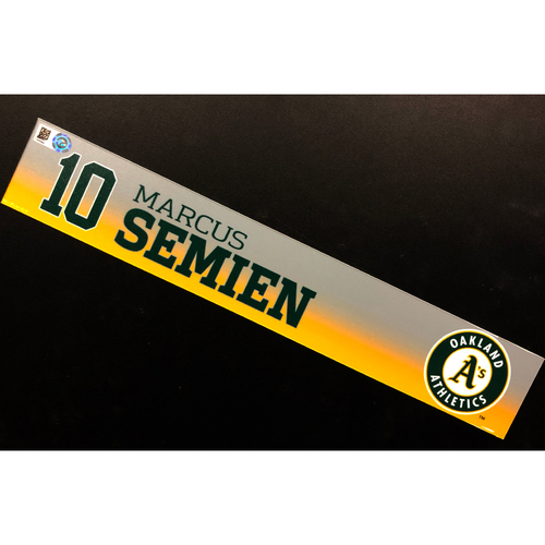 Photo of Game-Used 2020 Spring Training Locker Nameplate - Marcus Semien