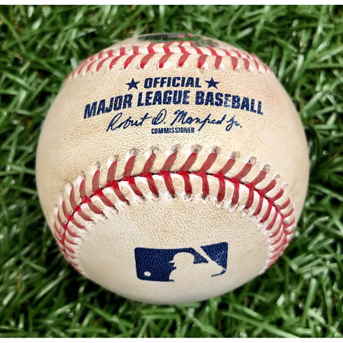 Photo of Game Used Baseball: Jose Martinez Double off Martin Perez - August 5, 2020 v BOS