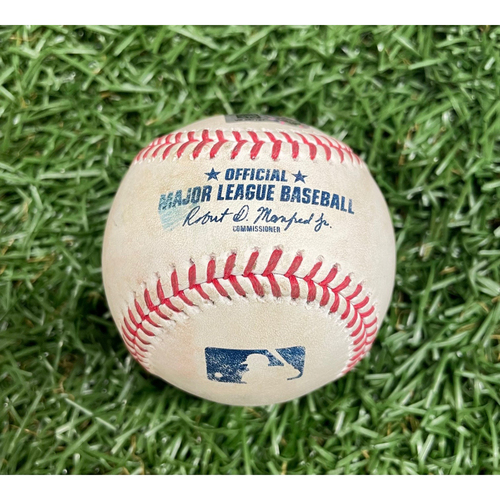 Photo of Game Used ALDS Baseball: Hansel Robles strikes out Wander Franco - Bottom 8 - October 8, 2021 v BOS