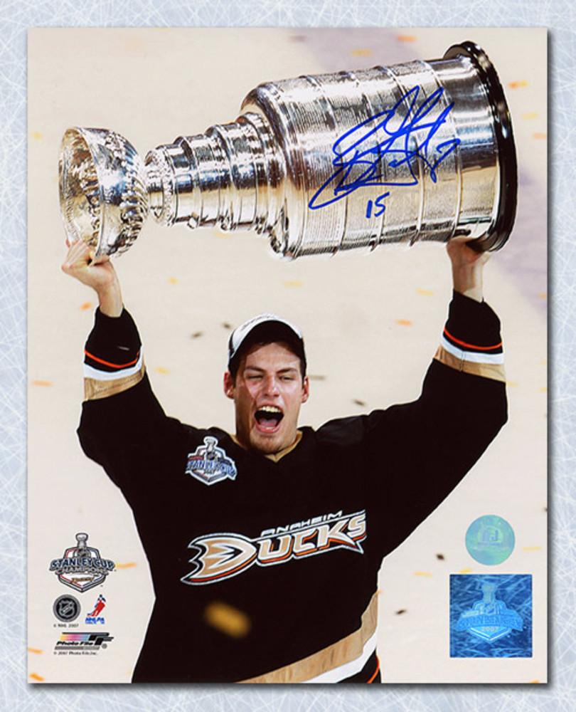 Ryan Getzlaf Anaheim Ducks Autographed 2007 Stanley Cup 8x10 Photo