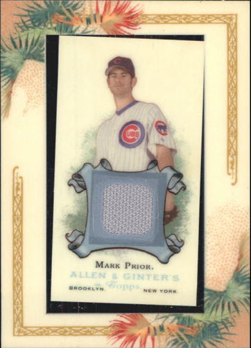 Photo of 2006 Topps Allen and Ginter Relics #MP Mark Prior Jsy G
