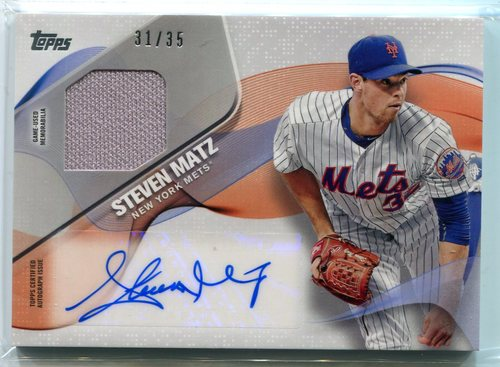 Photo of 2017 Topps Major League Material Autographs Steven Matz 31/35