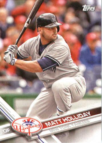 Photo of 2017 Yankees Topps #NYY3 Matt Holliday