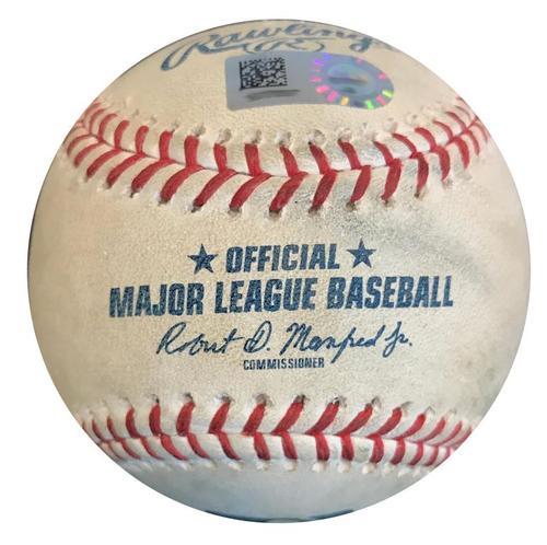 Photo of Game-Used Baseball from Pirates vs. Padres on 5/20/18 - Ball in Dirt to Austin Meadows - Hit 1st Career Home Run during At Bat