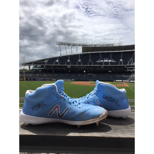 Photo of Danny Duffy Autographed Game-Used Cleats - 6/16/18