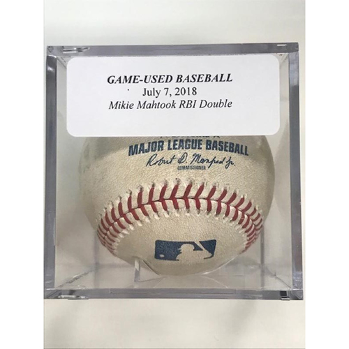 Photo of Game-Used Baseball: Mikie Mahtook RBI Double