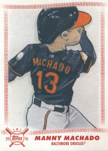 Photo of 2018 Topps Big League Star Caricature Reproductions #SCRMM Manny Machado