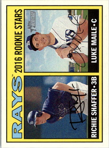 Photo of 2016 Topps Heritage #176 Luke Maile RC/Richie Shaffer RC