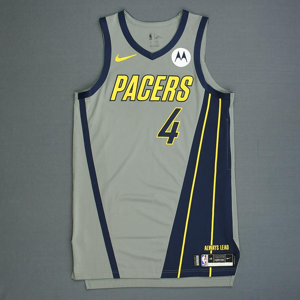 hot sale online 64b2b 5d3c7 Victor Oladipo - Indiana Pacers - Game-Worn City Edition ...