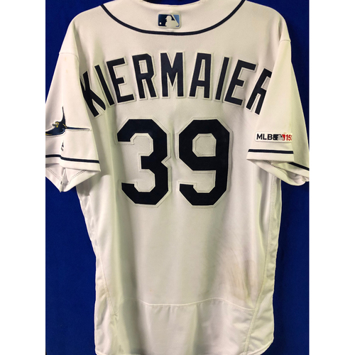 Photo of 2019 Opening Day Game Used Jersey: Kevin Kiermaier - March 28, 29, 30 v HOU, April 1, 2 v COL, April 17 v BAL - 2 TOTAL HOME RUNS