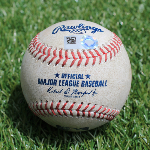 Photo of Game-Used Baseball: Trevor Bauer 1061st Career Strikeout (CLE @ KC - 7/2/19)