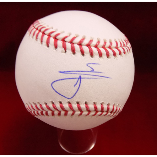 Photo of Willie Calhoun Autographed Baseball