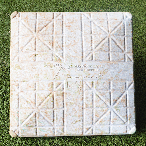 Photo of Game Used Base - Pete Alonso Hits 36th Career Home Run - 1st Base - Innings 4-6 - Mets vs. Marlins - 8/6/2019