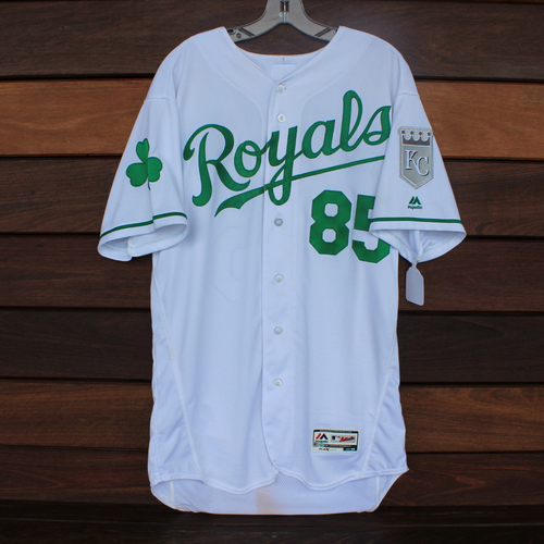 Photo of Game-Used 2018 St. Patrick's Day Jersey: Castellano (Size 46 - 3/17/18 -TEX @ KC)