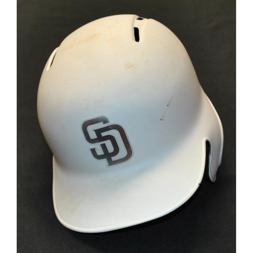 """Photo of Hunter """"Froe"""" Renfroe San Diego Padres Game-Used 2019 Players' Weekend Helmet"""