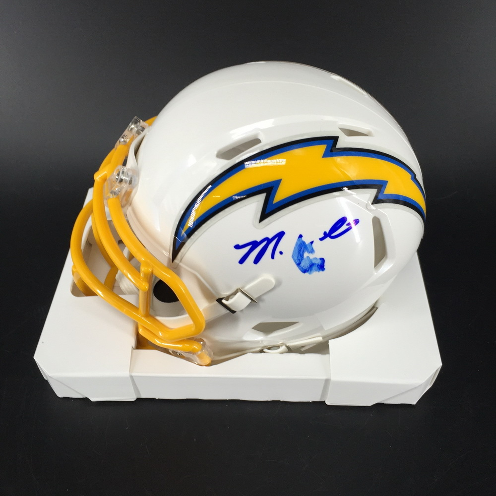 Chargers - Mike Williams Signed Mini Helmet (Signed Twice)