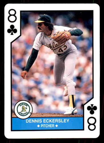 Photo of 1990 U.S. Playing Cards All-Stars #8C Dennis Eckersley