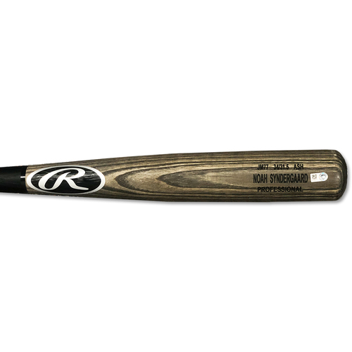 Photo of Noah Syndergaard #34 - Team Issued Full Bat - Grey and Black Rawlings Model